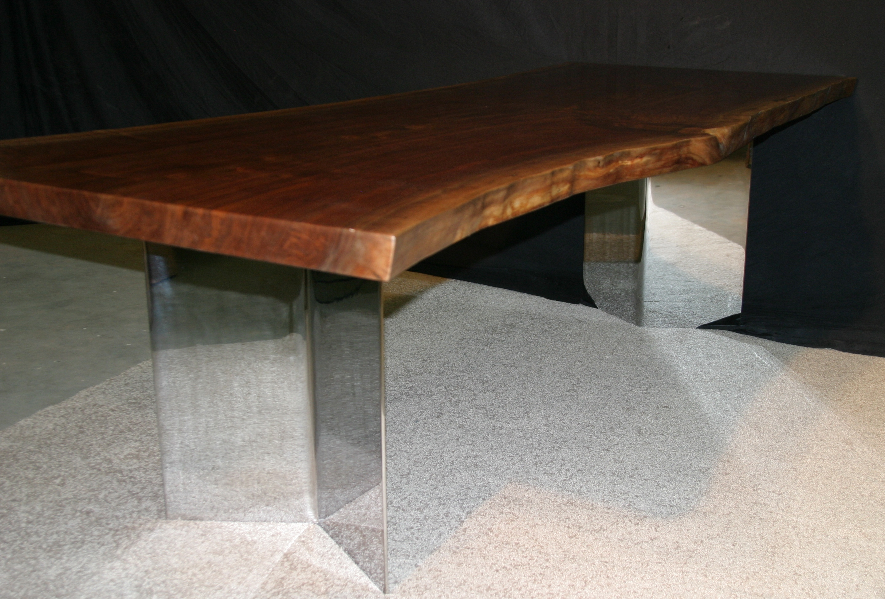 1000 images about Table legs on Pinterest Steel table  : weeds black walnut slab table w wide chrome legs 10 from www.pinterest.com size 2880 x 1950 jpeg 2062kB